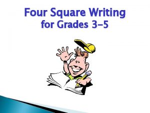 Four Square Writing for Grades 3 5 What