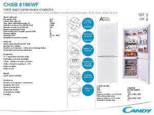 CHSB 6186 WF Voln stojc kombinovan chladnika Ventilovan