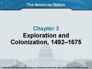 The American Nation Chapter 3 Exploration and Colonization