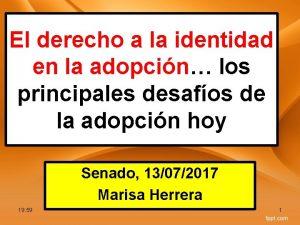 El derecho a la identidad en la adopcin