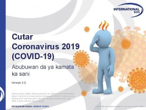 Cutar Coronavirus 2019 COVID19 Abubuwan da ya kamata