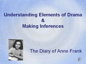 Understanding Elements of Drama Making Inferences The Diary