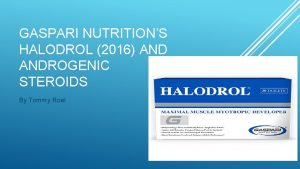 GASPARI NUTRITIONS HALODROL 2016 ANDROGENIC STEROIDS By Tommy