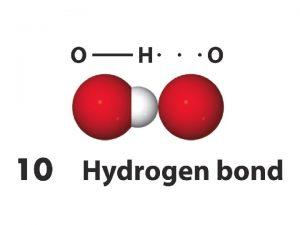 legame idrogeno in H 2 O Attrazione fra