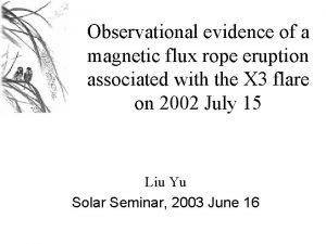 Observational evidence of a magnetic flux rope eruption