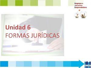 Unidad 6 FORMAS JURDICAS CONTENIDOS 1 Las formas
