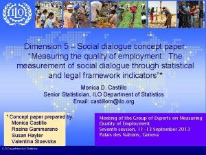 Dimension 5 Social dialogue concept paper Measuring the