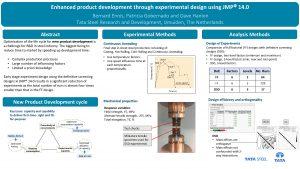 Enhanced product development through experimental design using JMP