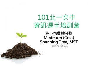 101 Minimum Cost Spanning Tree MST 2012 08