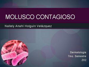 MOLUSCO CONTAGIOSO Nallely Anah Holgun Velzquez Dermatologa 7