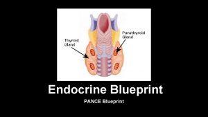Endocrine Blueprint PANCE Blueprint Diseases of Thyroid Hyperparathyroidism