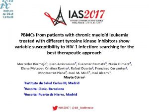 PBMCs from patients with chronic myeloid leukemia treated