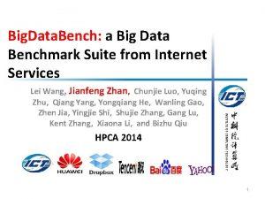 Big Data Bench a Big Data Benchmark Suite
