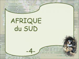 AFRIQUE du SUD 4 AVEC MARIJO U D