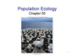 Population Ecology Chapter 55 1 Environmental Challenge Ecology