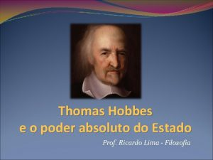 Thomas Hobbes e o poder absoluto do Estado
