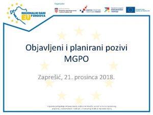 Objavljeni i planirani pozivi MGPO Zaprei 21 prosinca