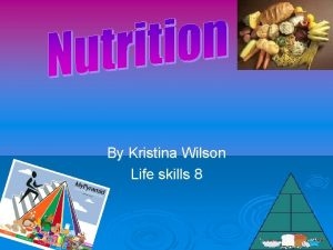 By Kristina Wilson Life skills 8 Carbohydrates Carbohydrates