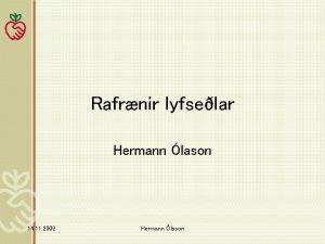 Rafrnir lyfselar Hermann lason 14 11 2002 Hermann