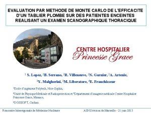 EVALUATION PAR METHODE DE MONTE CARLO DE LEFFICACITE