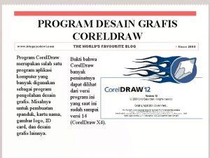 PROGRAM DESAIN GRAFIS CORELDRAW www blognyedewi com Program