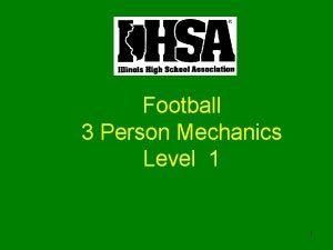 Football 3 Person Mechanics Level 1 1 Football