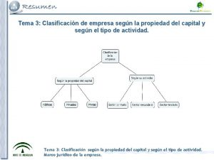 Tema 3 Clasificacin de empresa segn la propiedad