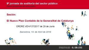 9 jornada de auditora del sector pblico Nuevas