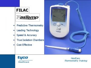 FILAC Predictive Thermometry Leading Technology Speed Accuracy True