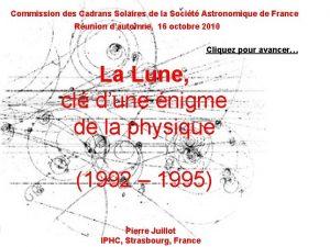 Commission des Cadrans Solaires de la Socit Astronomique