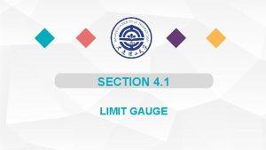SECTION 4 1 LIMIT GAUGE 1 Limit Plug