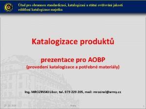 ad pro obrannou standardizaci katalogizaci a sttn ovovn