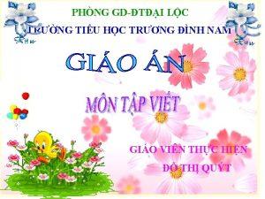 PHNG GDTI LC TRNG TIU HC TRNG NH