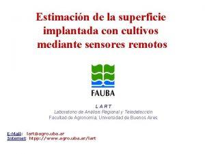 Estimacin de la superficie implantada con cultivos mediante