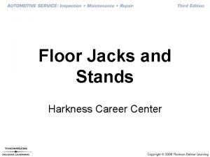 Floor Jacks and Stands Harkness Career Center Floor