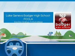 Lake Geneva Badger High School FCCLA Dee Giovingo