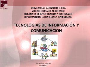 UNIVERSIDAD ALONSO DE OJEDA VICERRECTORADO ACADMICO DECANATO DE