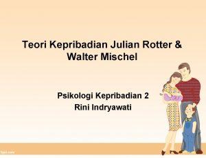 Teori Kepribadian Julian Rotter Walter Mischel Psikologi Kepribadian