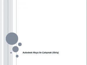 Autodesk Maya ile almak Giri AUTODESK MAYA 3