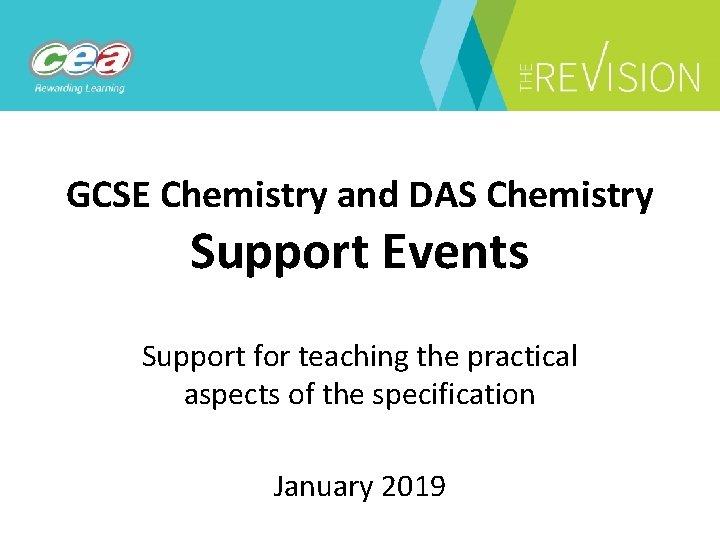 GCSE Chemistry and DAS Chemistry Support Events Support