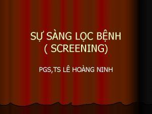 S SNG LC BNH SCREENING PGS TS L