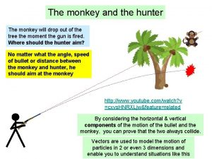 The monkey and the hunter The monkey will
