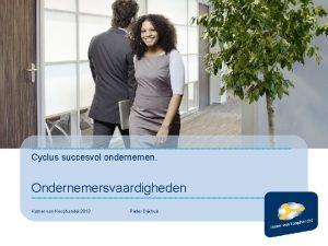 Cyclus succesvol ondernemen Ondernemersvaardigheden Kamer van Koophandel 2013