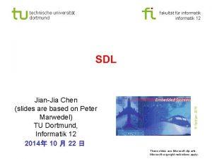 technische universitt dortmund fakultt fr informatik 12 JianJia