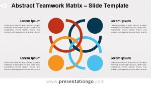 Abstract Teamwork Matrix Slide Template Lorem Ipsum Lorem