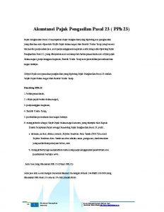 Akuntansi Pajak Pengasilan Pasal 23 PPh 23 Pajak