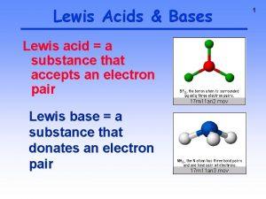 Lewis Acids Bases Lewis acid a substance that