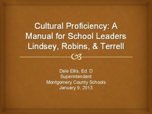 Cultural Proficiency A Manual for School Leaders Lindsey