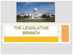 THE LEGISLATIVE BRANCH CAPITOL IMAGES Visit the Capitol