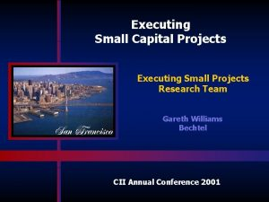 Executing Small Capital Projects Executing Small Projects Research